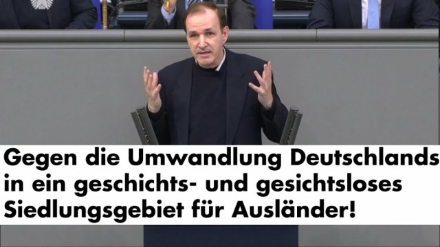 Dr. Gottfried Curio am 25.06.2021 im Bundestag; Bild: Startbild Youtube Dr. Curio