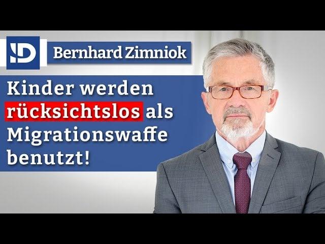 Rücksichtslos: Kinder als Migrationswaffe! | Bernhard Zimniok; Bild: Startbild Youtube
