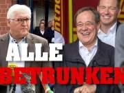 Betrunken? Auch Steinmeier amüsierte sich köstlich!; Bild: Startbild Youtubevideo Tim Kellner