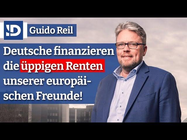 Deutsche zahlen üppige Renten für ganz Europa! | Guido Reil; Bild: Startbild Youtube
