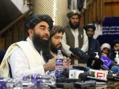 Kreidefresser für westliche Kameras: Gestrige Taliban-Pressekonferenz in Kabul (Foto:Imago/KyodoNews)