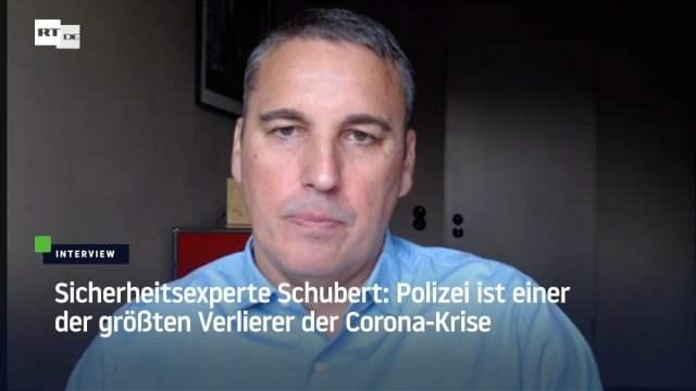 Sicherheitsexperte Schubert: Polizei ist einer der größten Verlierer der Corona-Krise; Bild: Startbild Youtubevideo RT DE