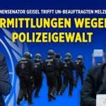 Polizeigewalt bei verbotenen Corona-Demos: Innensenator Geisel trifft UN-Beauftragten Melzer; Bild: Startbild Youtubevideo NTD Deutsch