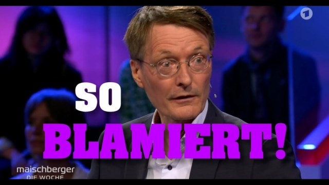 MAISCHBERGER grillt hilflosen LAUTERBACH!; Startbild Youtubevideo Tim Kellner