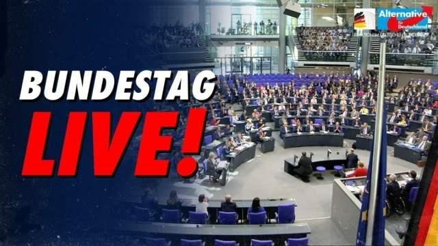 Bundestag LIVE; Bild: Startbild Youtubevideo