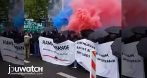 """LIVE: """"Wir sind alle LinX"""" - Antifa demonstriert in Leipzig; Bild: jouwatch"""