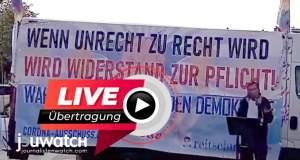 LIVE - Demonstrationen gegen Corona-Politik; Bild: jouwatch