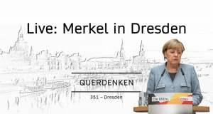 Merkeln in Dresden; Bild: Startbild Youtubevideo Querdenken 251