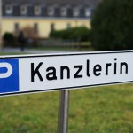 Stuttgart,,Germany,26.02.2020,Parking,Reservation,Sign,Only,For,German,Chancellor