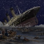 Sinking,Of,The,Titanic,Illustration,By,German,Artist,Willy,Stower