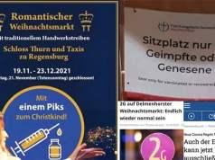 2G-Regeln als Impfpflicht durch die Hintertür; Bild: Collage