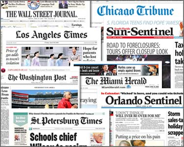 Newspapers are clearly in need of a redesigning, in aesthetics and content, in order to dwart the slump print has fallen into.