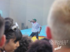 Tyler, The Creator tearing down the Palladia Stage