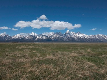 The Teton Range, photographed from the east across Grad Teton National Park. Photograph by Mark Elbroch / Panthera.