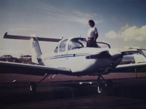 Here I am, third generation pilot, with a Piper Tomahawk. (My Mom shot this pic.)