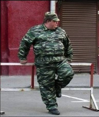 Image result for fat girl in army uniform