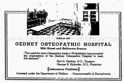 A History of the American College of Osteopathic
