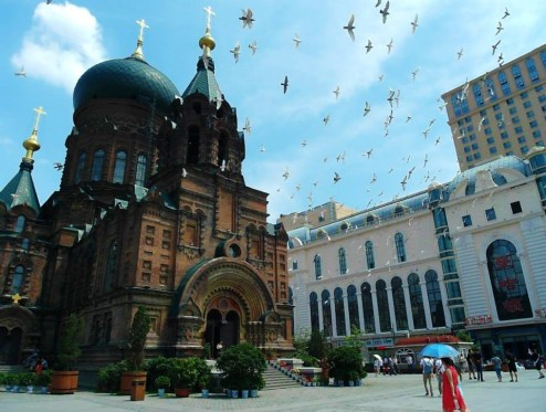 Saint Sophia Cathedral 哈爾濱聖索菲亞教堂in Harbin, with Russian architecture