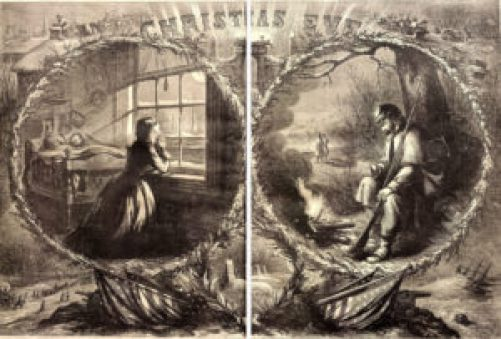 """Christmas Eve,"" Harper's Weekly, January 3, 1863. Courtesy of the Missouri History Museum, St. Louis."