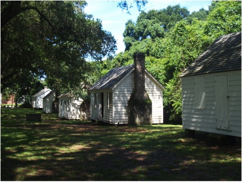 The slave cabins at McLeod Plantation. Photo by author.