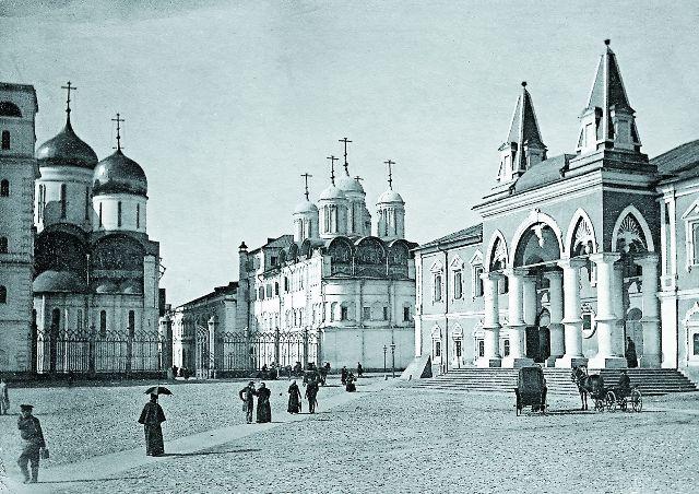 Фрагмент Чудова монастыря, фото конца XIX века