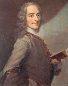 """Voltaire with book, sans """"bucket of black snakes"""""""