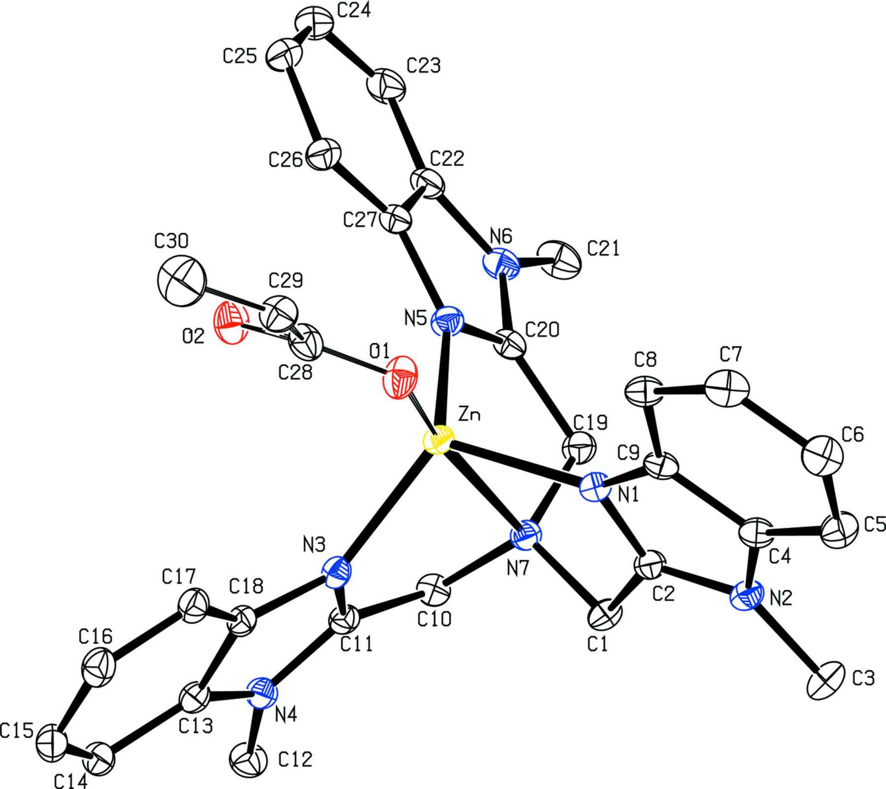 Iucr Acrylato Tris 1 Methyl Benzimidazol 2 Ylmeth Yl Amine Zinc Ii Perchlorate Di Methyl