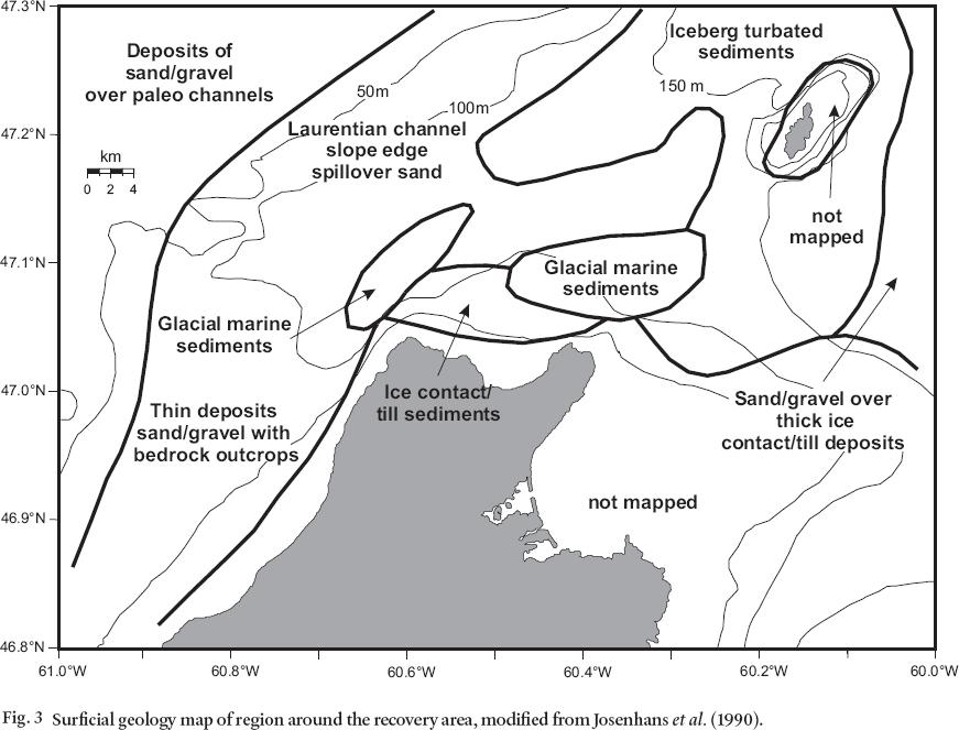 Carbonate blocks found in muddy sediment off Cape Breton Island ...