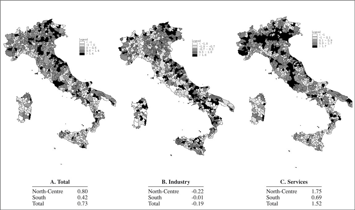 Agglomeration economies, spatial dependence and local