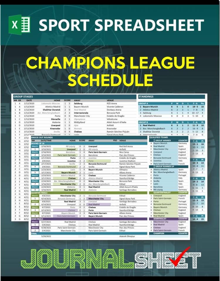 JS805-SS-XL UEFA CHAMPIONS LEAGUE 2020/2021 FIXTURES ...