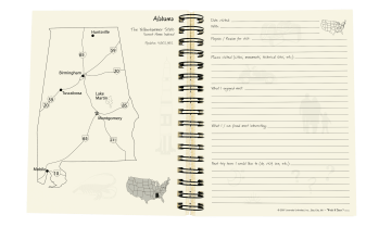 Let's Go See All 50!, Visiting the 50 States Journal