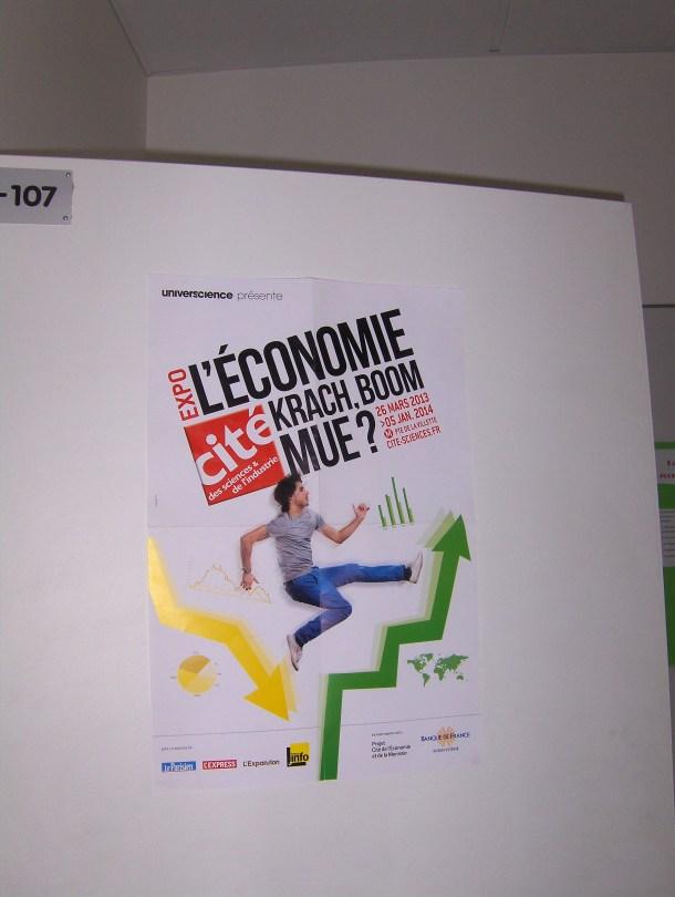 L'affiche de l'exposition à la Cité des Sciences