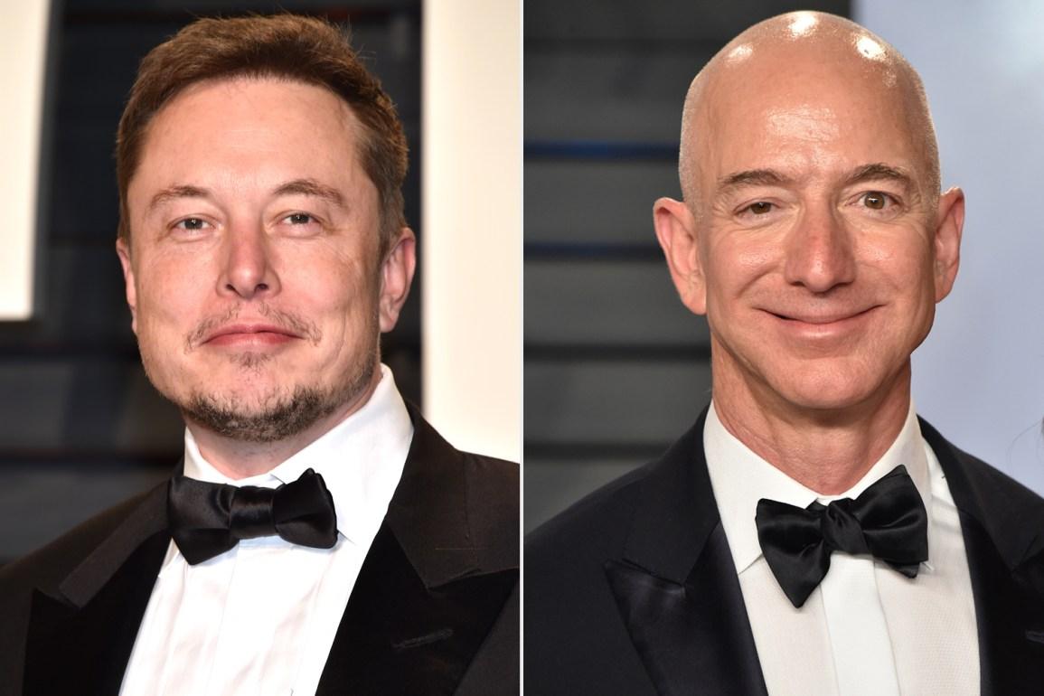 Musk mocks Jeff Bezos