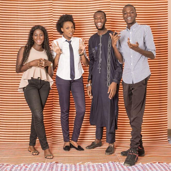 Antoine Tempé portraits d'étudiants de Dakar