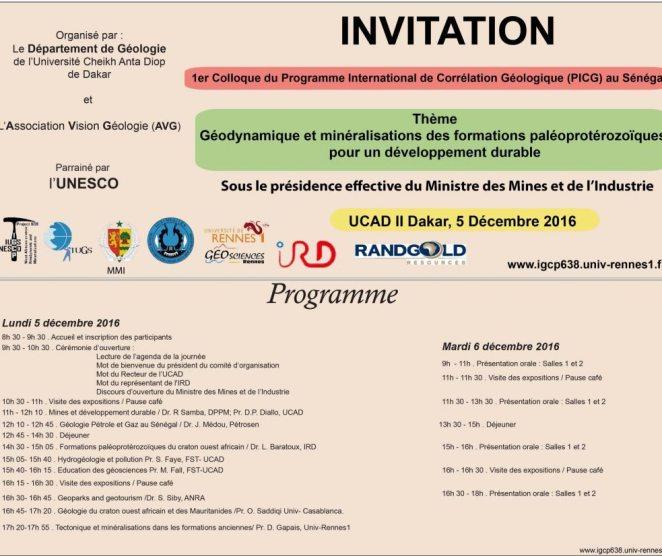 Premier colloque international de géologie du PICG au Sénégal