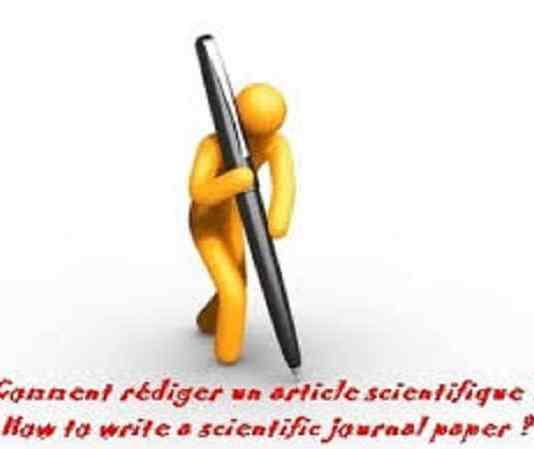 Comment rédiger un article scientifique