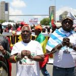 Manifestation contre l'esclavage des migrants