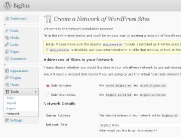 BigBuz's WordPress 3.0 Multisite's Network Page
