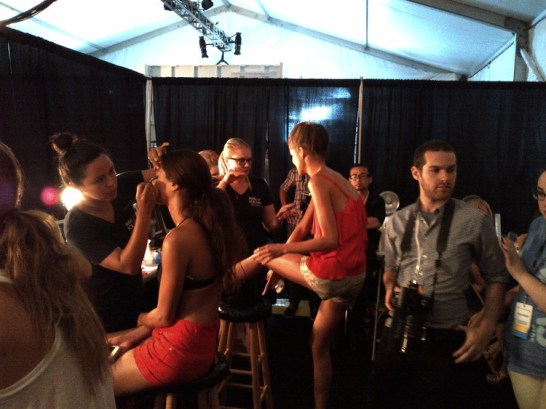 Dressing Room at Mercedes Benz Fashion Week Miami