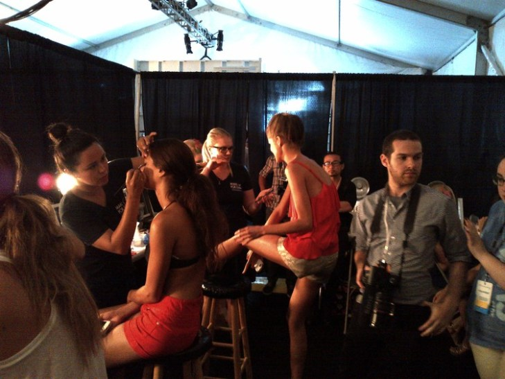 Dressing Room at Mercedes Benz Fashion Week Miami