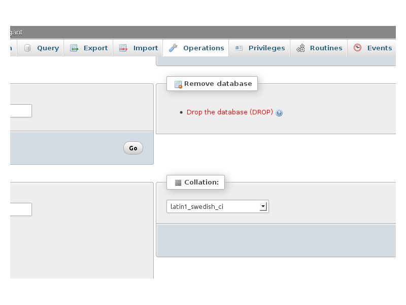 how to use phpmyadmin to create a database