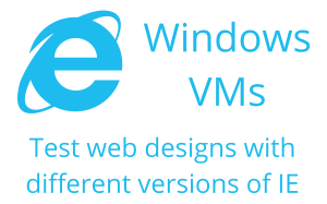 Test web designs and software products with free to download and use Windows Virtual Machines