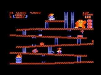 Donkey Kong on Atari 800