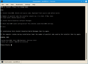 Atari800 Linux Installer Screenshot