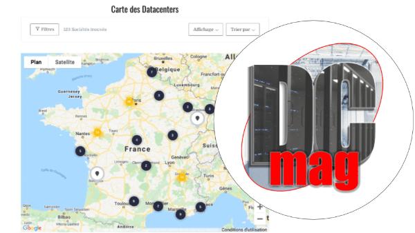 La Carte des Datacenters nouvelle version, encore plus efficace