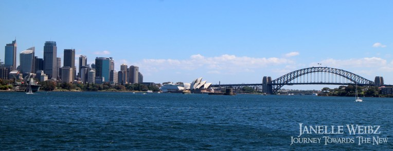 Panorama of the city viewed from the ferry.