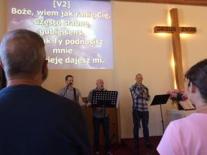 Worship this morning at Ostroda Christian Church (Picture credits to Sonya Haywood - stolen from her Facebook page!)
