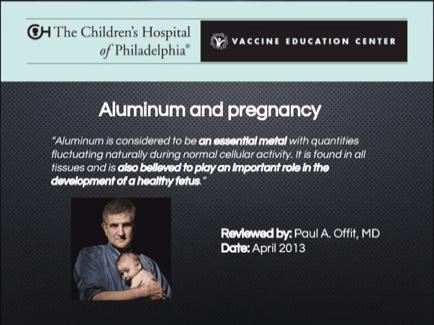 SH Paul Offit on Aluminum