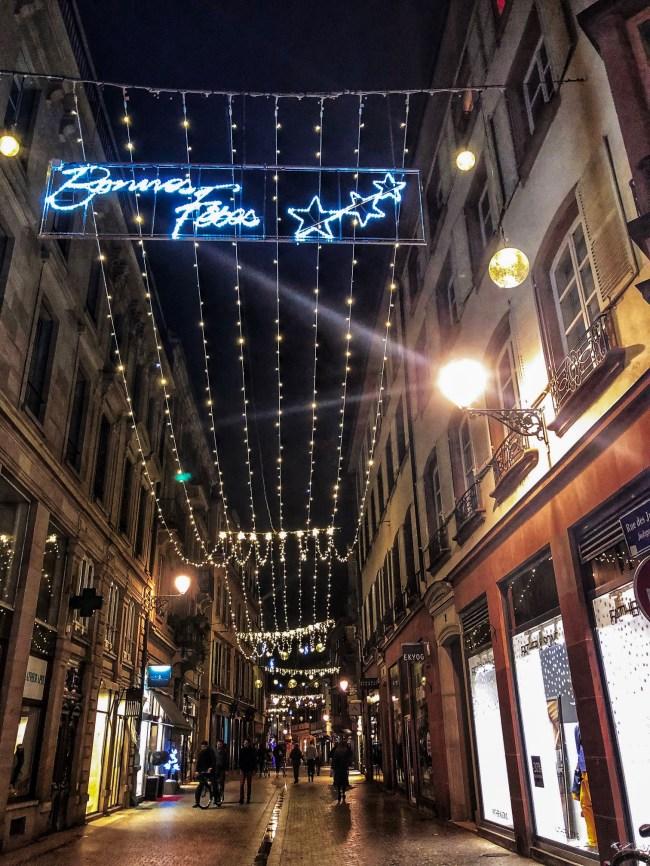 Strasbourg night lights