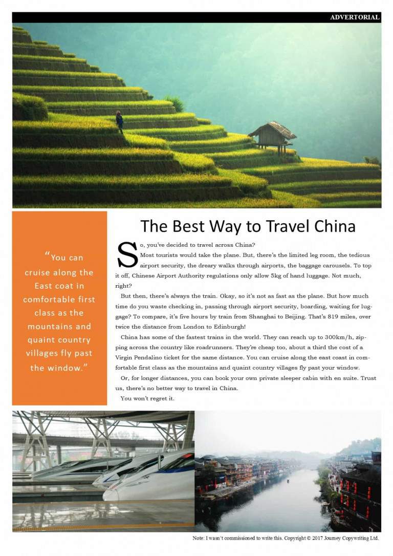 The Best Way to Travel China Advertorial